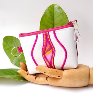 Sacred Fruit Wallet - Pink & White
