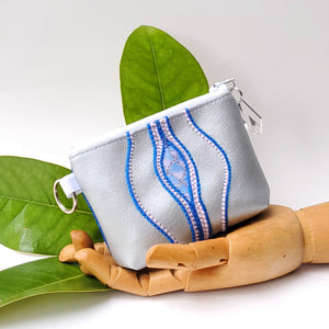 Sacred Fruit Wallet - Silver & Blue