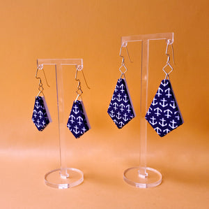 Textile Earrings - Anchors Away