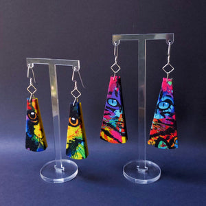 Textile Earrings - Cat Eyes