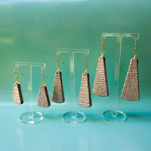 Textile Earrings - Golden Shimmer