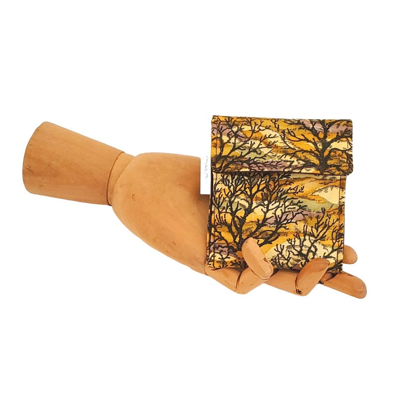 Tree print fabric Velcro Mini Wallet by Anne Marie Beard. Handmade in Austin, Texas since 2004 y'all! annemarie mini wallet austin texas