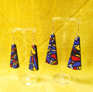 Textile Earrings - Stained Glass