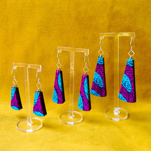Textile Earrings - Plum Party