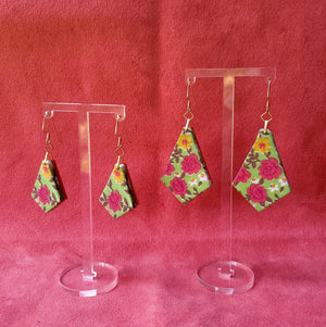 Textile Earrings - Rosy