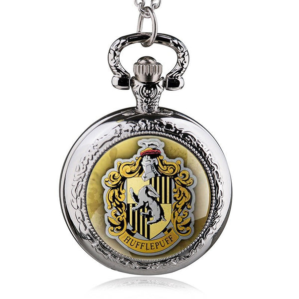 Hufflepuff College Logo Pocket Watch
