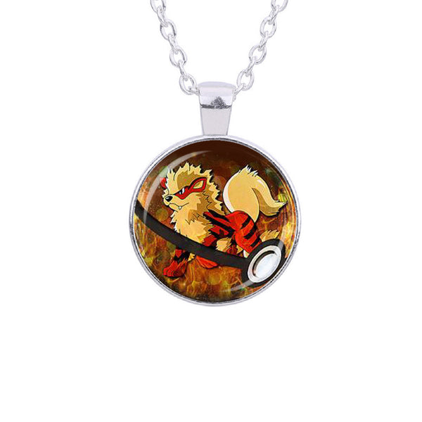 Arcanine Pokemon Necklace