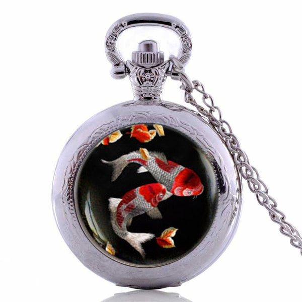 Japanese Koi Fish Pocket Watch