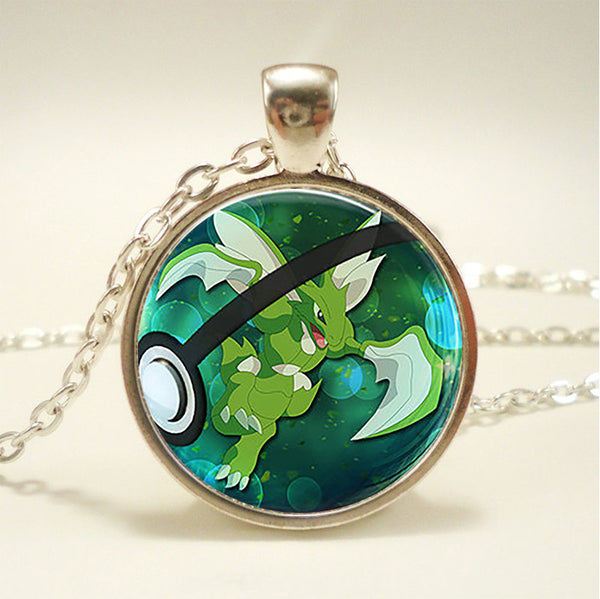 Scyther Pokemon Jewelry Necklace