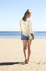 The Knot Top - Sandy Beige - shirt - marbaii