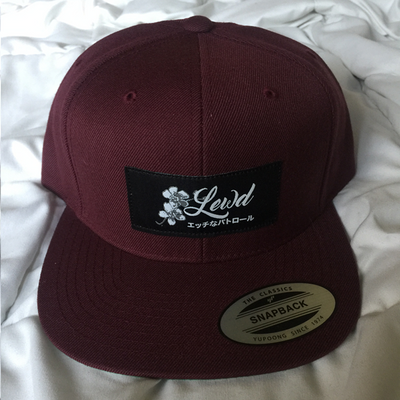 Lewd Abstract Sakura Snapback