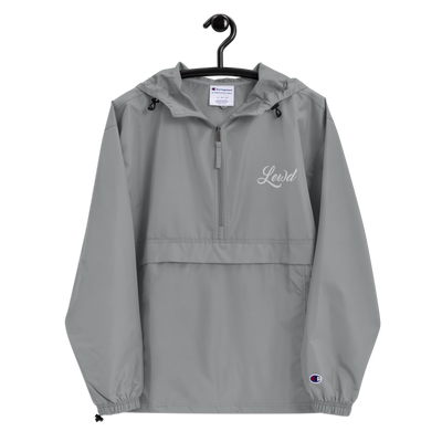 Lewd Cursive Embroidered Champion Packable [ Jacket ]