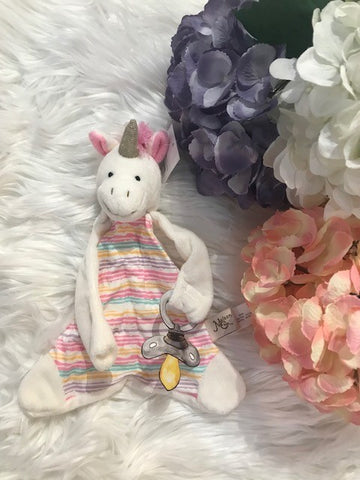 """Trixie the Unicorn"" Pacifier Blankie"
