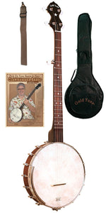 Cc-Ot Beginners Openback Banjo Package For Left Hand Players