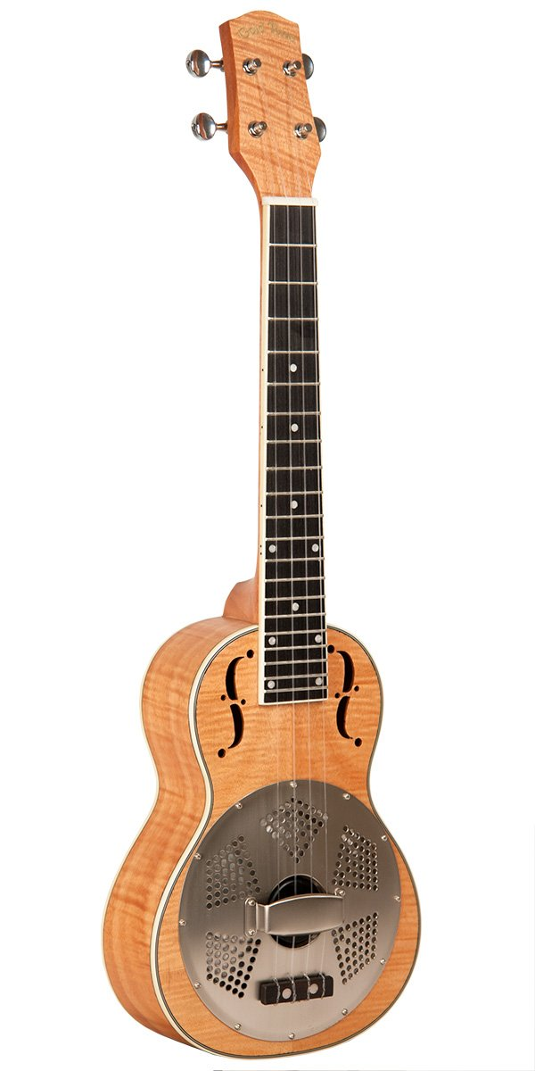 Curly Maple Resonator Concert-Scale Ukulele