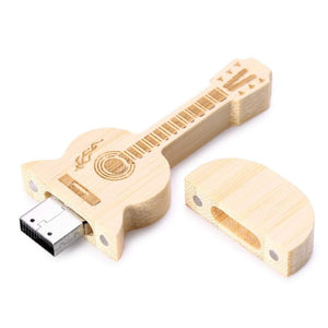 USB Natural Wood Guitar Flash Drive