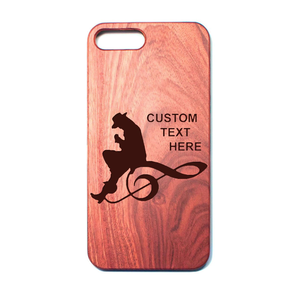 Custom Engraved Rosewood iPhone Case (SRV)