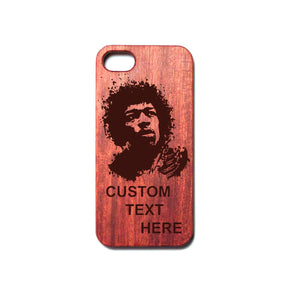 Custom Engraved Rosewood iPhone Case (Hendrix)