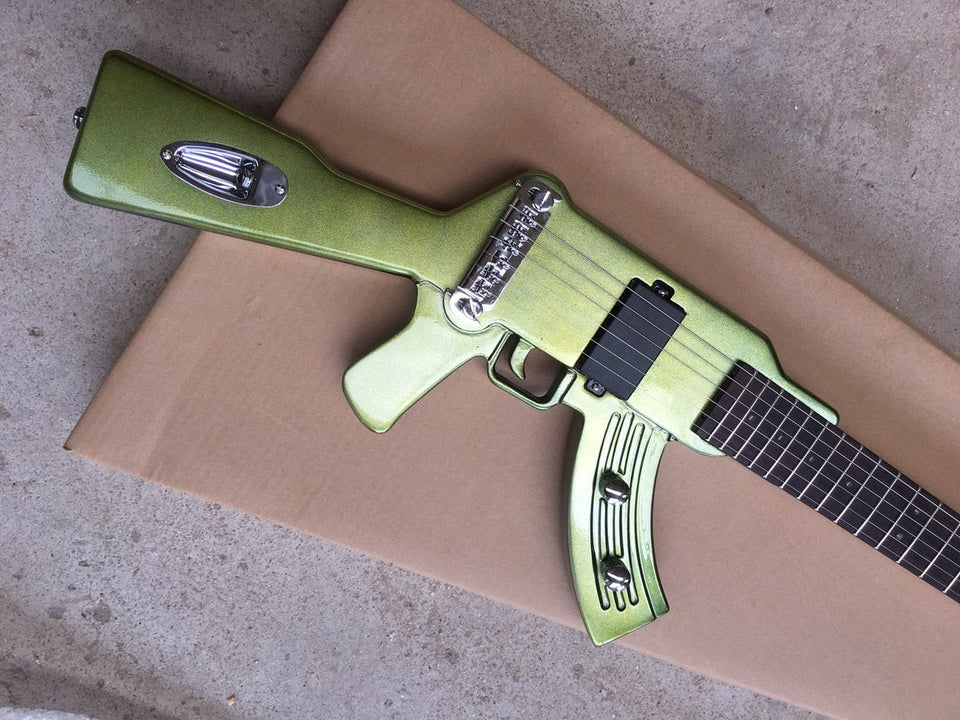 AK-47 Light Alburn LED Electric Guitar with Acrylic Body