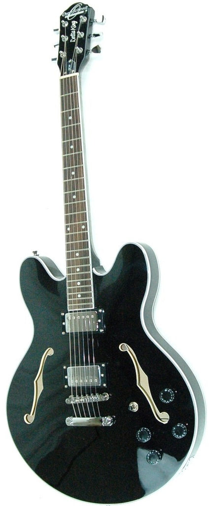 OE30 Black 'Delta King' Electric Guitar