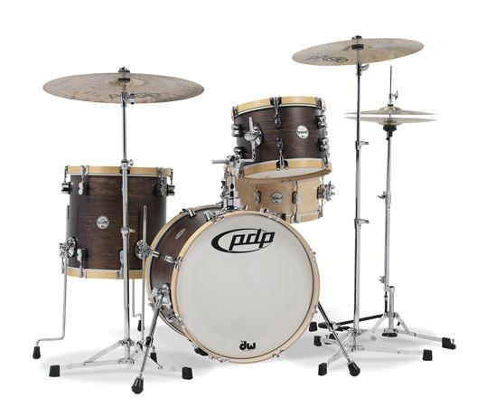 PDP Concept Maple Bop 3-Piece - Wood Hoop Shell Kit Drum Set - Walnut