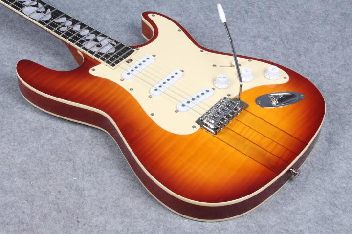 Custom Sunburst Electric Guitar with 3 pickups with Sunburst Headstock