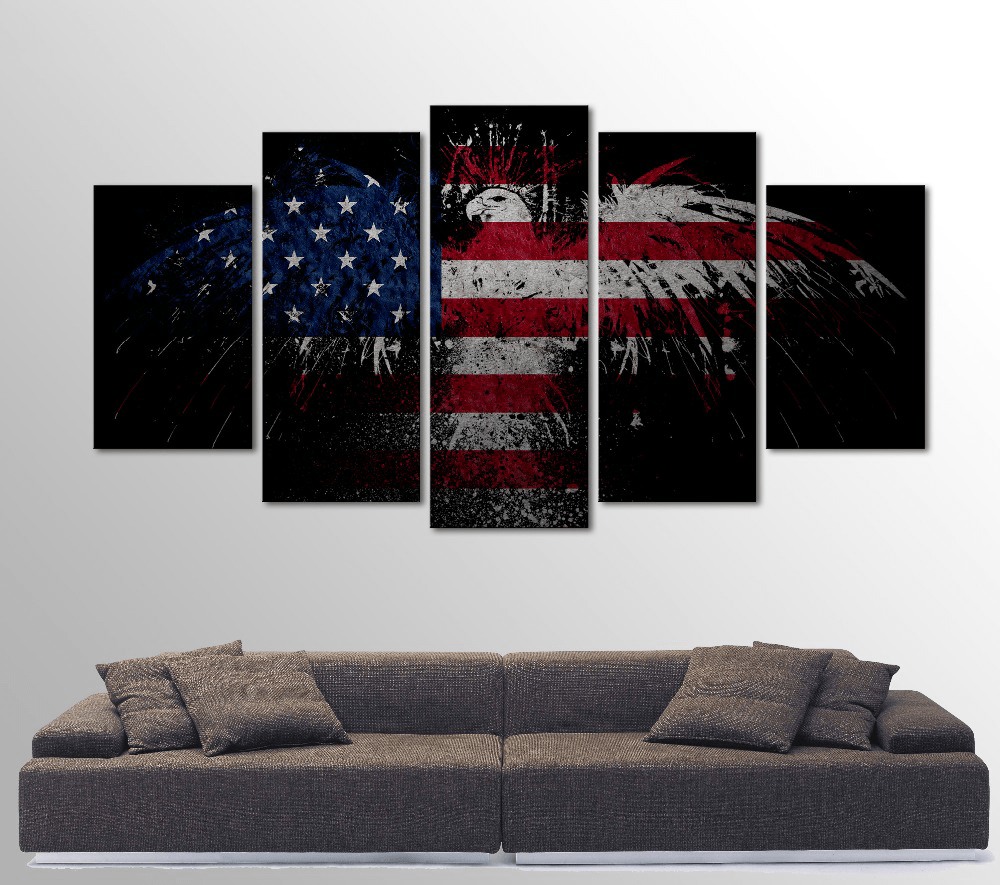 Top American Eagle 5 Piece Canvas Art - Limited Edition | Sunfield Music QT17