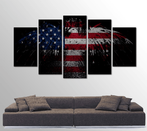 American Eagle 5 Piece Canvas Art - Limited Edition