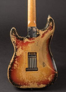 66 Distressed Tobacco Burst ST Electric Guitar