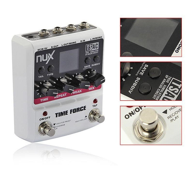 NUX TIME FORCE Electric Guitar Effect Pedal