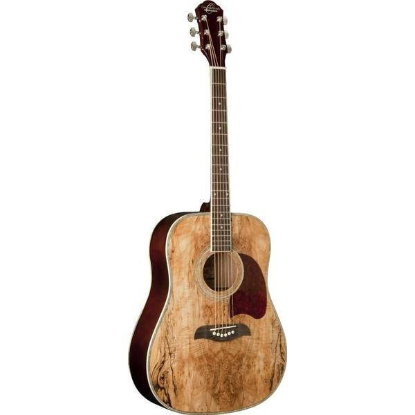 Oscar Schmidt OG2SM Spalted Maple Top Dreadnought Acoustic Guitar (SOLD OUT UNTIL JAN 2018)