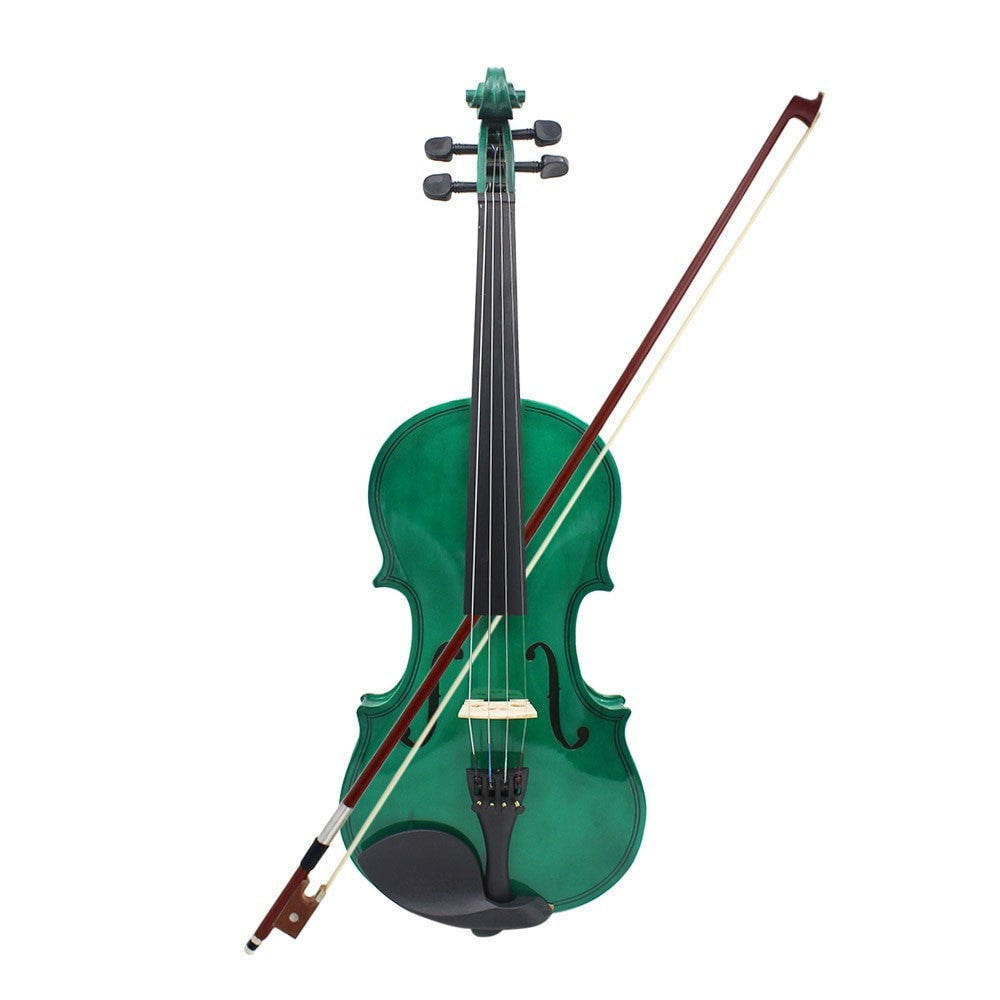 4/4 Full Size Green Violin - Sunfield Music