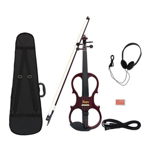 4/4 Wood Maple Electric Violin Set - Sunfield Music