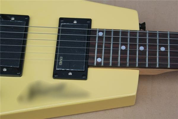 Yellow Headless Electric Guitar