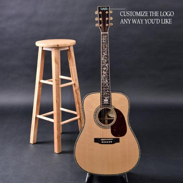 Handmade Acoustic Guitar, Dreadnought Delex Fingerboard and Luxury Carving