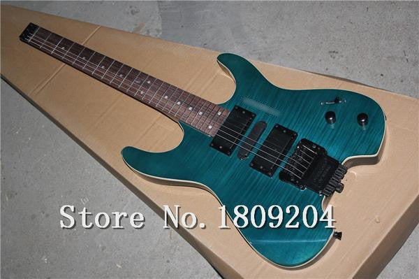 Headless Blue Electric Guitar - Sunfield Music