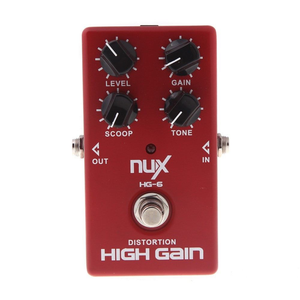 NUX HG-6 Guitar Distortion High Gain Electric Guitar Effect Pedal