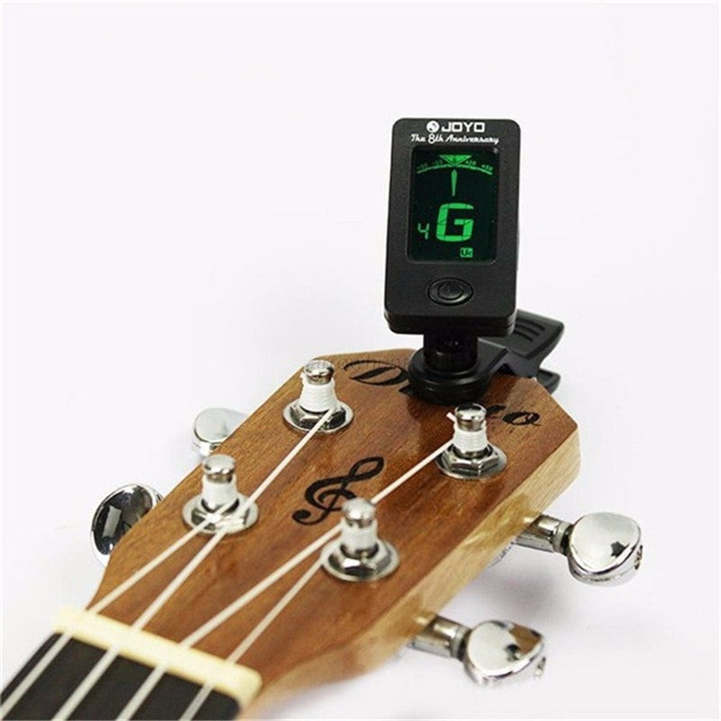 Chromatic Clip-On Digital Tuner For Acoustic| Electric Guitar | Bass | Violin - Sunfield Music