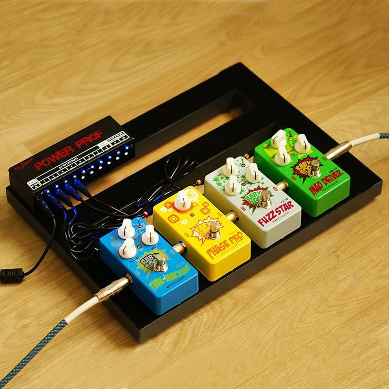 Guitar Effect Pedal Board Power Supply 10 Isolated Outputs (8 Way DC 9V & 1 Way DC 12V & 1 Way 18V) - Sunfield Music