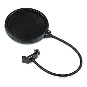 Double Layer Studio Microphone Wind Screen Pop Filter and Swivel Mount