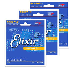 Elixir Electric Guitar strings 009 010 011 Violao 12000 12002 12050 12052 12077 - Sunfield Music