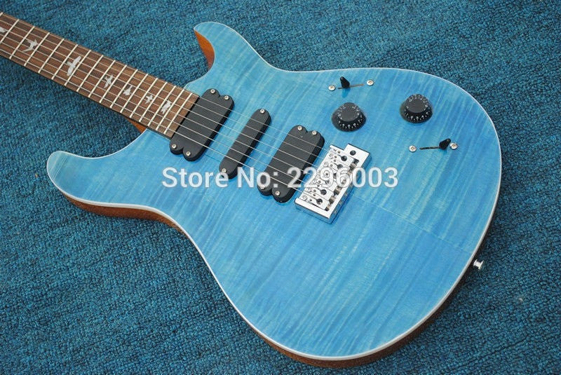 Blue Flamed Maple Top PSR - Sunfield Music