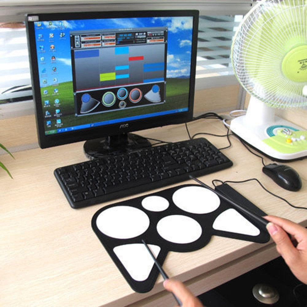 Portable USB PC Electronic Roll Up Drum Pad