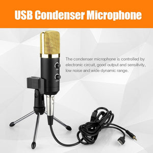 Zeepin MK-F100TL USB Condenser Sound Recording Microphone with Stand