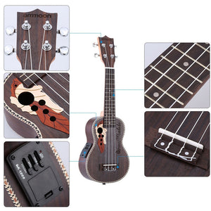 "21"" Acoustic Ukulele 4 Strings with Built-in EQ Pickup - Sunfield Music"