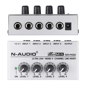 MX400 Ultra-compact Low Noise 4 Channel Audio Mixer