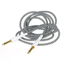 10FT Guitar Cable Cord Wove Guitar Lines Gold Connectors Oxygen-free Copper Wire - Sunfield Music