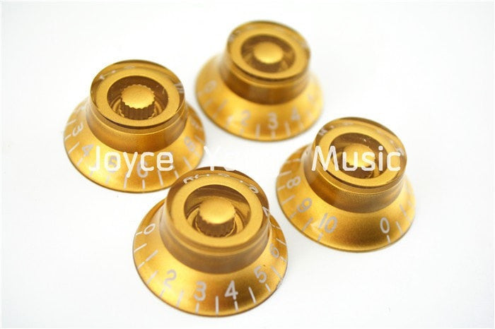 Niko 1 Set of 4pcs Gold Bell Hat Knobs