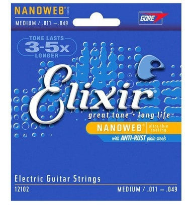 Elixir Super Light Electric Guitar Strings 12052 12050 12102 12000 12002 12077 - Sunfield Music