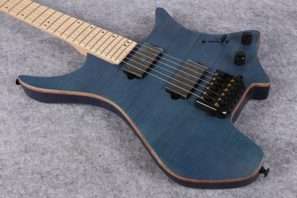 2017 Dark Blue Headless Top Custom Electric Guitar - Sunfield Music